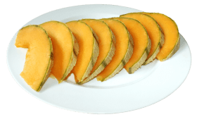 Cantaloupe Slices on the Plate
