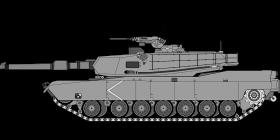cartoonish army tank