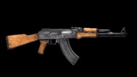 classic assault rifle wooden grip