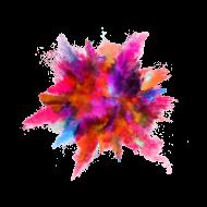color powder explosion
