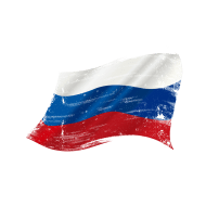 Drawing the Russian flag vector material