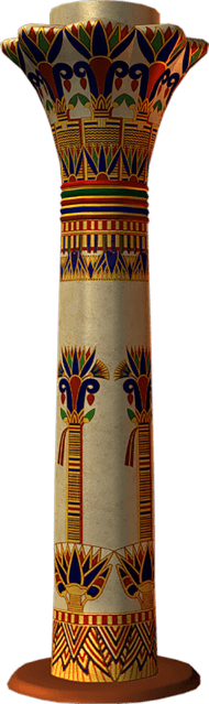 Egyptian painted pillars