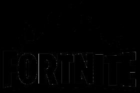 fortnite logo black and white