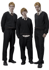fred ron and george