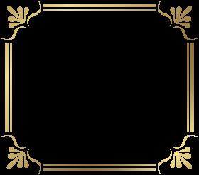 gold border frame