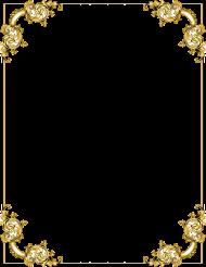gold border frame  image