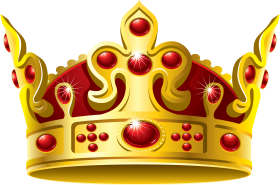 gold crown red stone