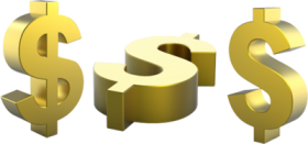 gold dollar png pic
