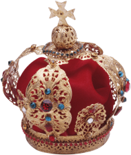 gold red crown korona