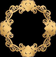 golden round frame