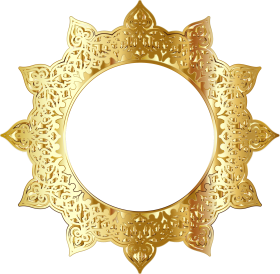 golden round frame