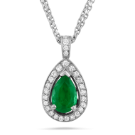 green diamond pendant