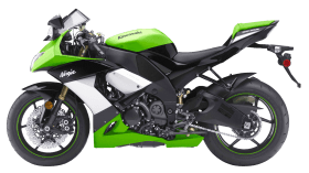Green Kawasaki Ninja ZX 10R Sport Motorcycle Bike