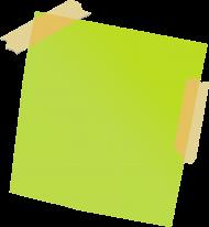 green sticky notes