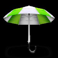 green umbrela