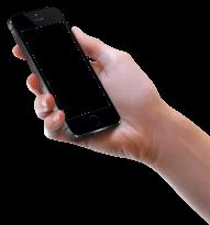 Hand Holding Black iPhone