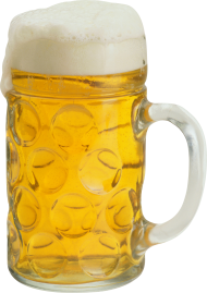 ice cold beer in mug