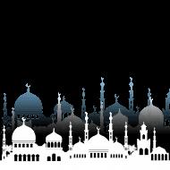 islamic mosque vector architecture