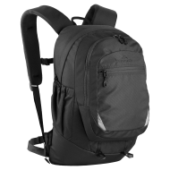 kathmandu black backpack with extra front pocket