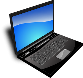 laptop comic style