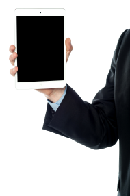 men with tablet