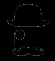 monocle top hat transparent image