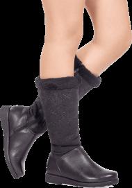 nice black leather ladies boot