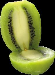 peeled and split kiwi