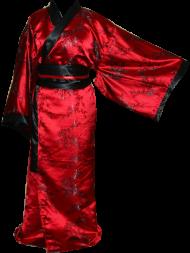 red with black sakura kimono