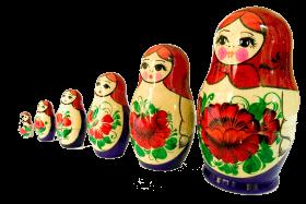 Russian dolls,matryoshka