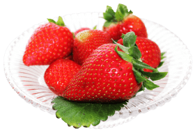 Strawberry in a Plate