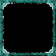 teal border frame