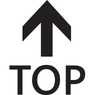 top with upwards arrow