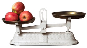 Weight Scale and Apple