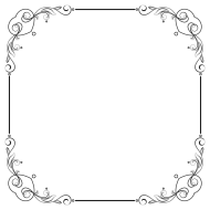 white border frame