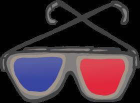 3d anaglyph glasses - 3d glass PNG images transparent
