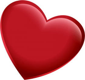 3d red heart png pic - heart psd PNG images transparent
