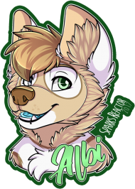albi badge by sparksfur furry drawing, wolves art, - drawi PNG images transparent