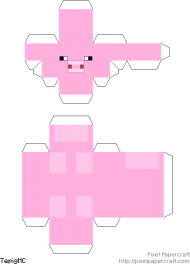 Download Apercraft Lego Pig Minifigure Scale Lego Minecraft