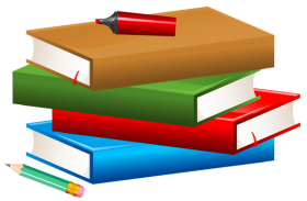 books with pencil and marker PNG images transparent