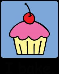 free PNG cartoondessert pink frosting photo i bake - cartooncupcake frosting cherry dessert keychain, PNG image with transparent background PNG images transparent