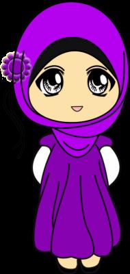 55 Gambar Kartun Muslimah Full Download HD