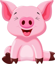 Download Cute Clipart Cute Animal Clipart Cute Pigs Baby Pig Cartoo Png Free Png Images Toppng