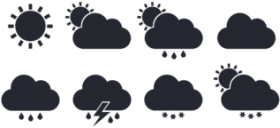 download the free weather icons set - flat weather icon PNG images transparent