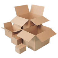 Cardboard Boxes Sizes PNG images transparent