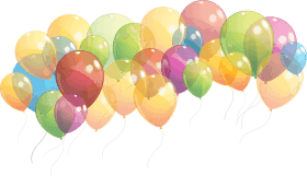 Group Of Balloons Taking PNG images transparent