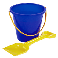Sand Bucket and Spade PNG images transparent