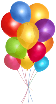 Simple Group Balloons PNG images transparent