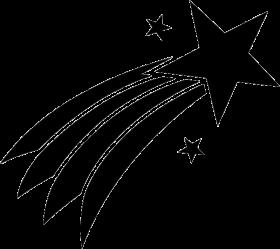 free svg shooting star PNG images transparent