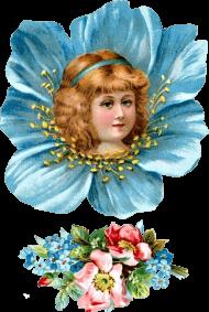 free victorian flower girl head clipartplace - florist girl vintage PNG images transparent